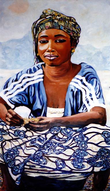 Sénégal : peinture à l'huile