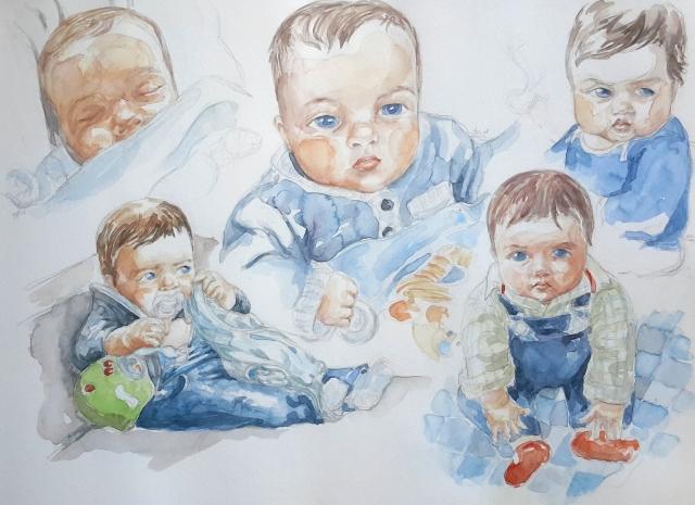 Charlie : illustration aquarelle