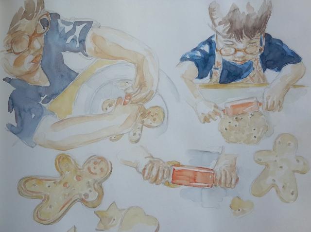 Charlie 7 : illustration aquarelle