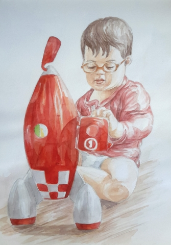 Charlie 6 : illustration aquarelle