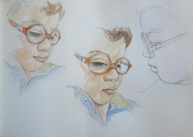 Charlie 5 : illustration aquarelle
