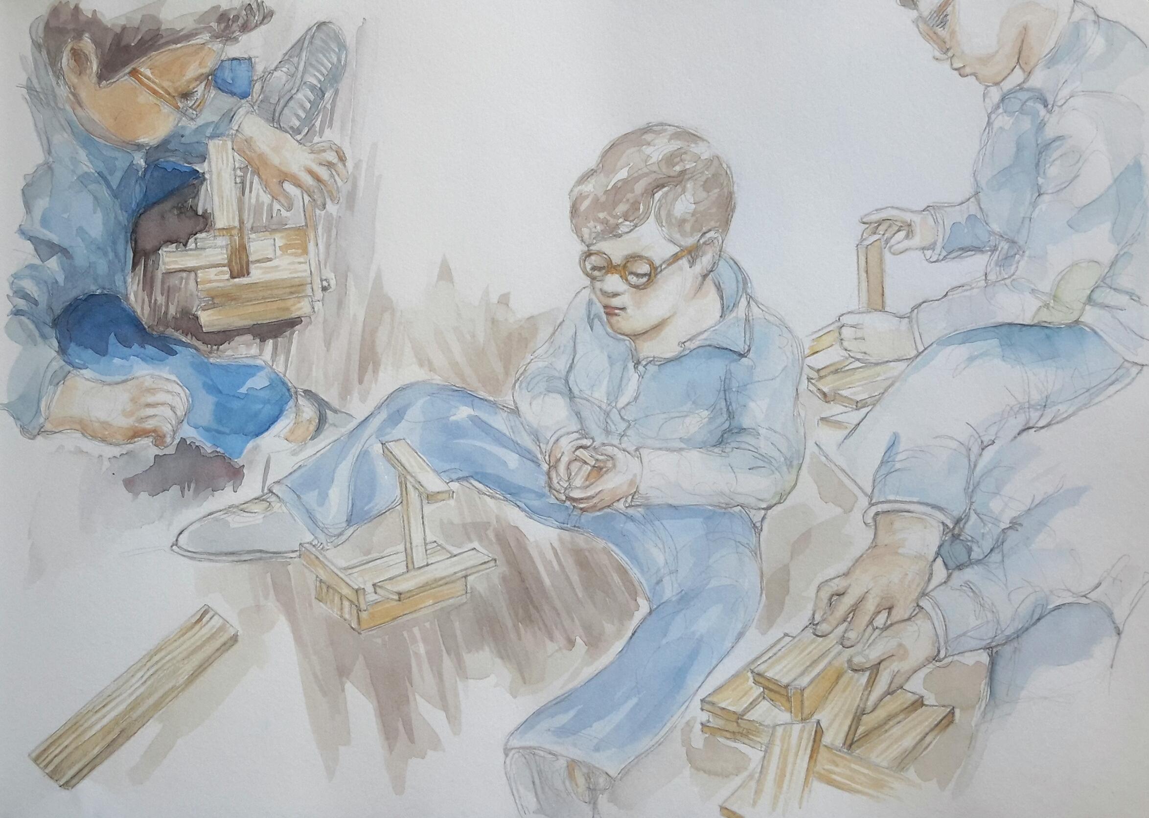 Charlie 4 : illustration aquarelle