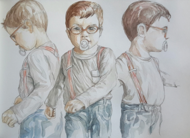 Charlie 3 : illustration aquarelle