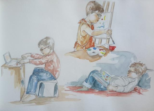 Charlie 2 : illustration aquarelle