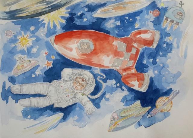 Charlie 13 : illustration aquarelle