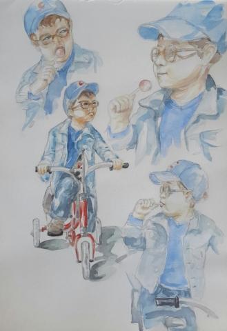Charlie 9 : illustration aquarelle