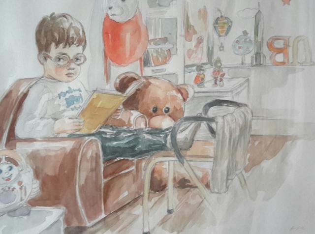 Charlie 8 : illustration aquarelle