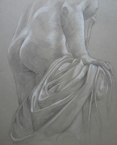 Diane 2 pierre noire et crayon blanc