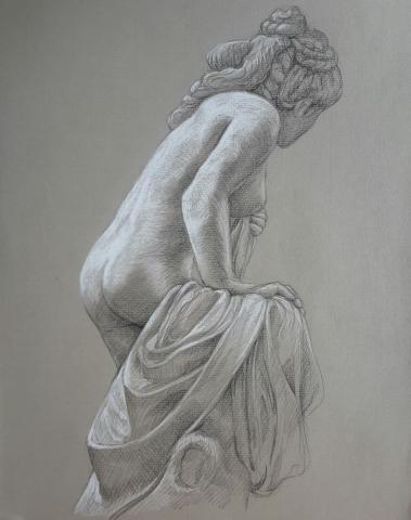 Diane pierre noire et crayon blanc