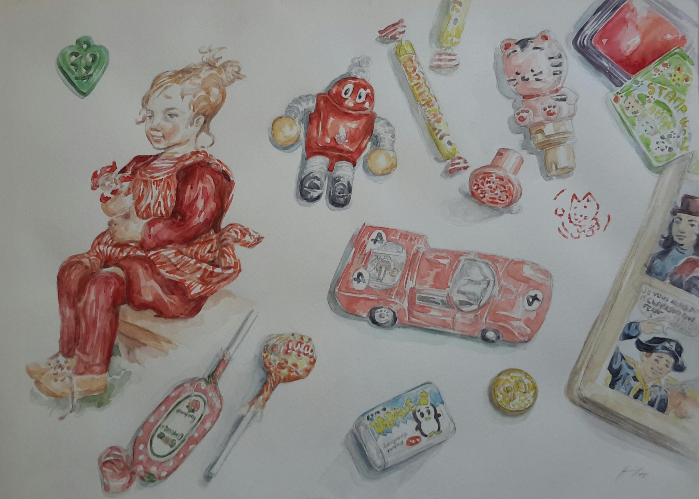 Enfance 4 : illustration aquarelle