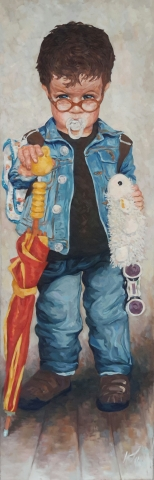 Charlie : peinture à l'huile