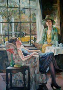 Publicité 1920, Pierce-Arrow : peinture à l'huile