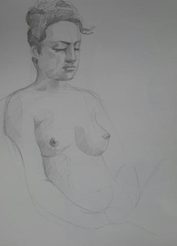 Modèle vivant 2 : croquis crayon graphite HB
