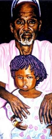 Sénégal 3 : peinture à l'huile