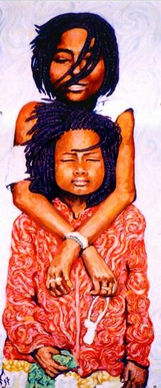 Sénégal 2 : peinture à l'huile
