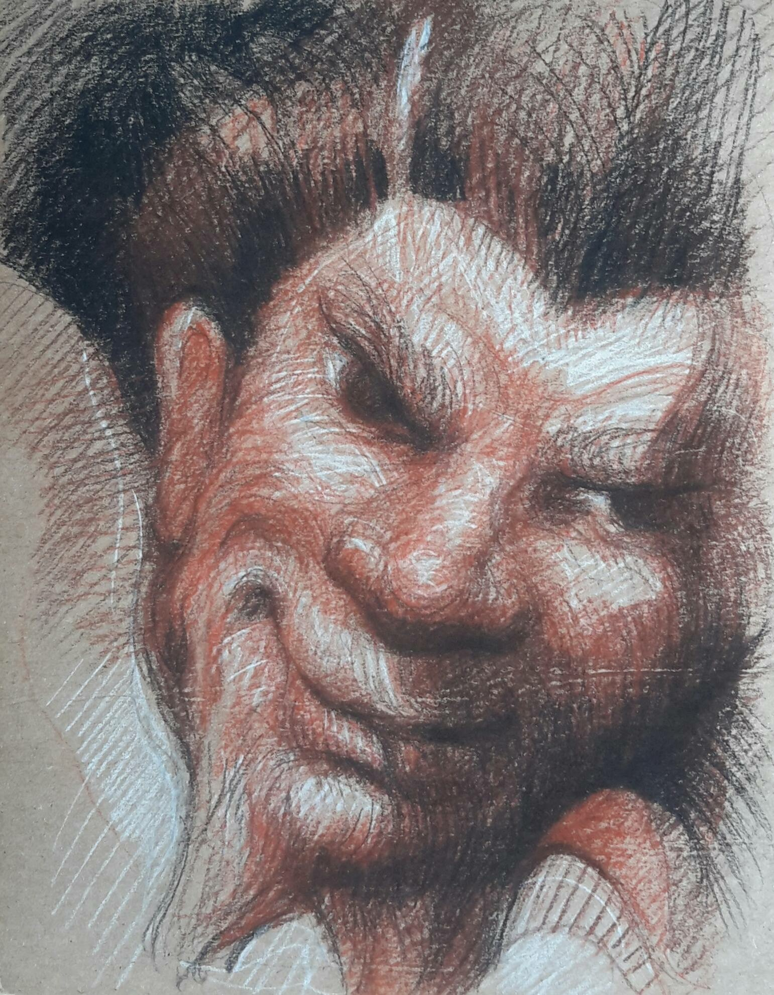 La félicité de la régence : pierre noire, sanguine et crayon blanc