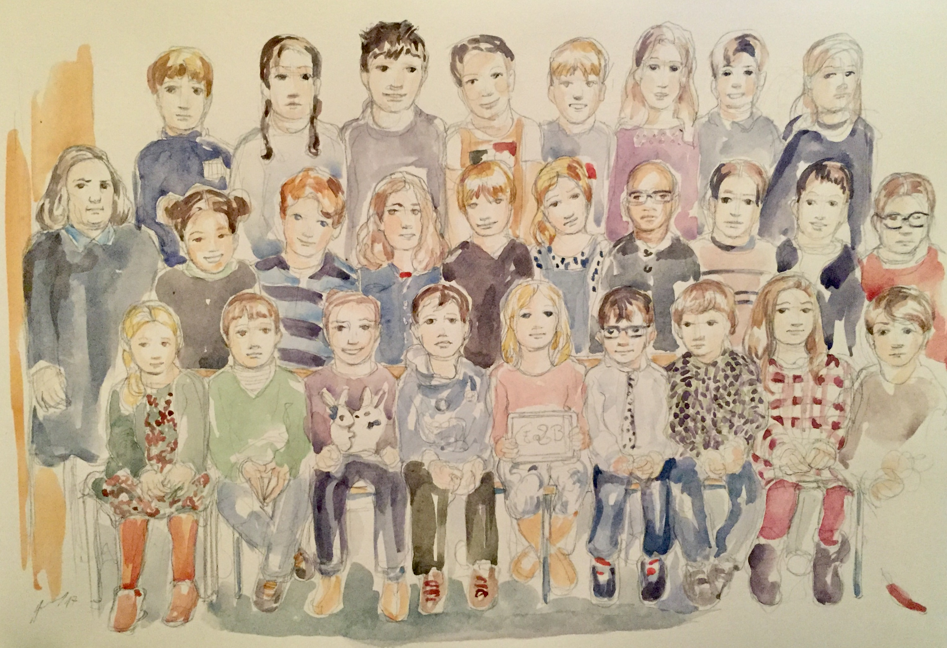 Charlie classe 6 : illustration aquarelle