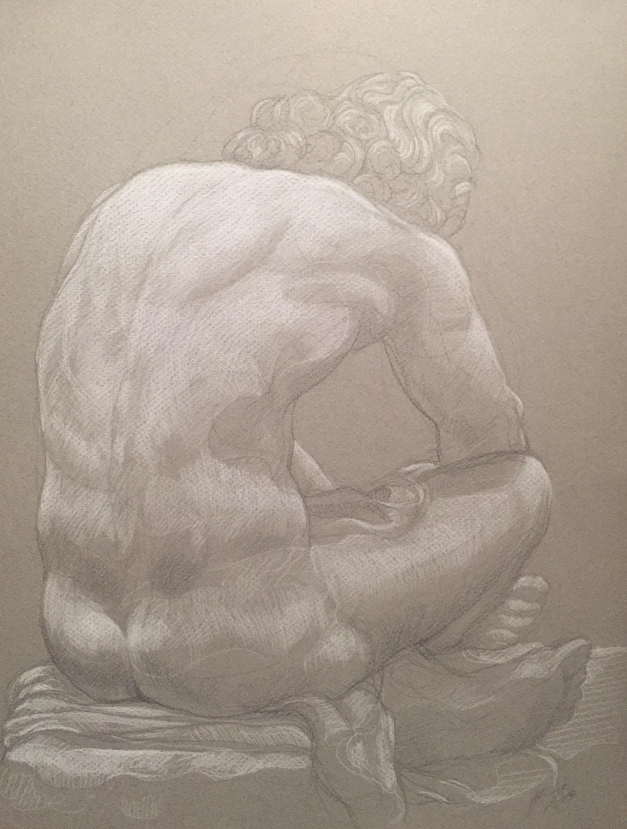 Le Désespoir 6 pierre noire et crayon blanc