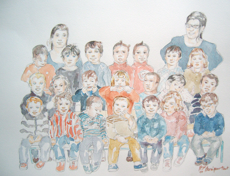 Charlie classe : illustration aquarelle