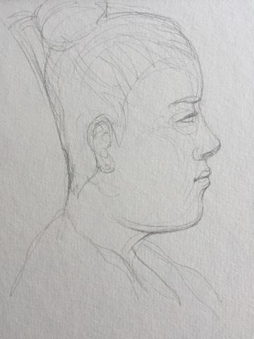 Portrait 4 : Bamako Mali crayon graphite HB