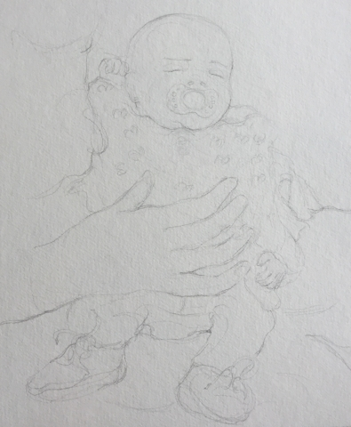 Portrait 2 : Bamako Mali crayon graphite HB