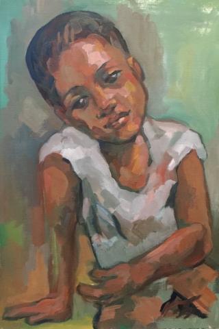 Portrait 6 : Bamako Mali peinture à l'huile