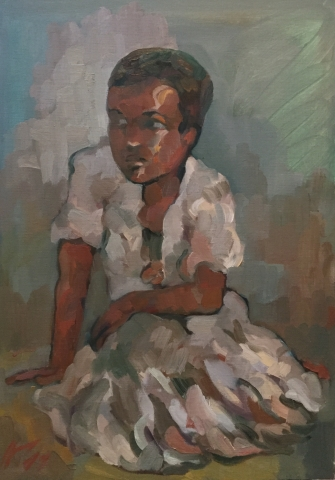 Portrait 4 : Bamako Mali peinture à l'huile