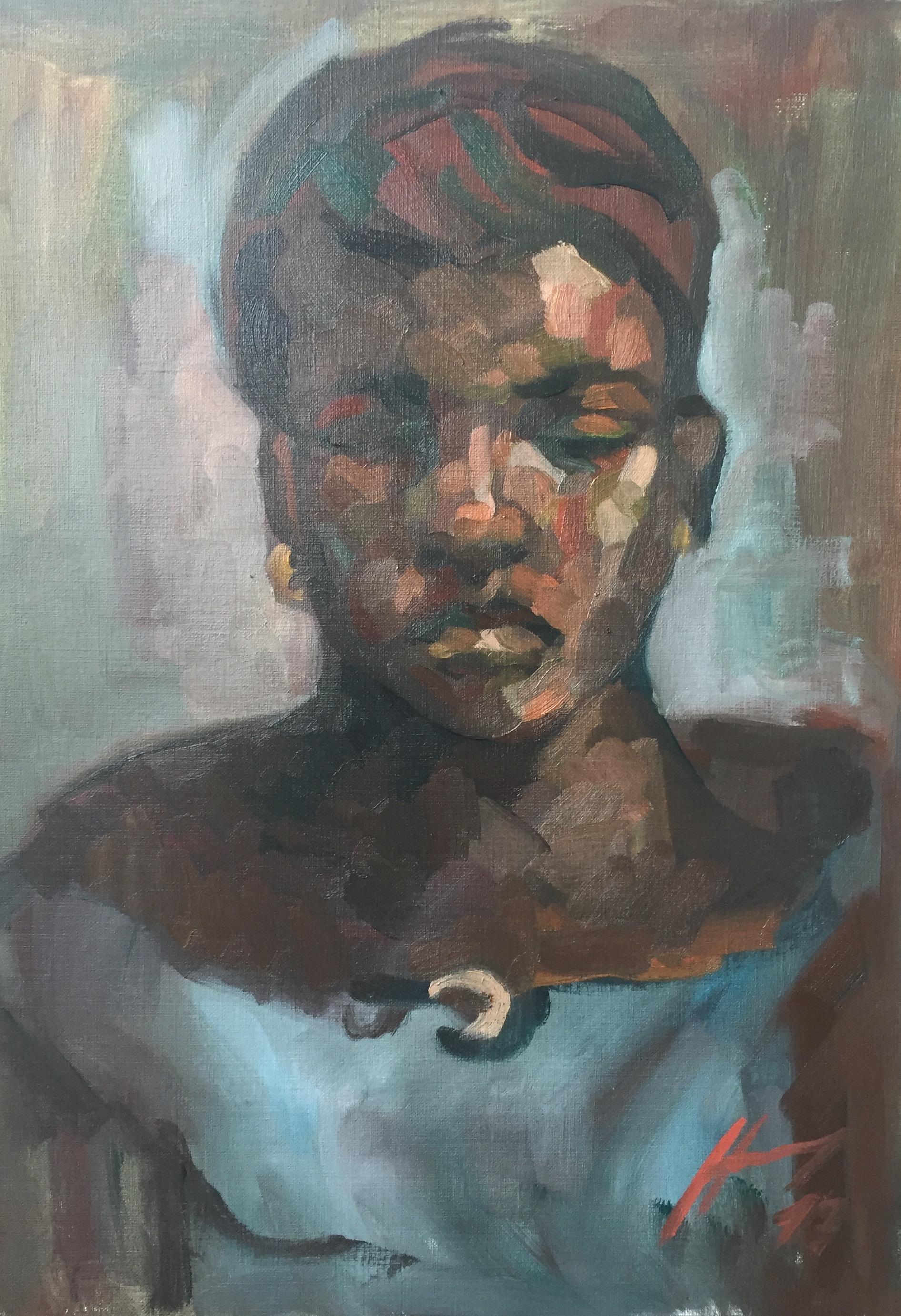 Portrait 7 : Bamako Mali peinture à l'huile