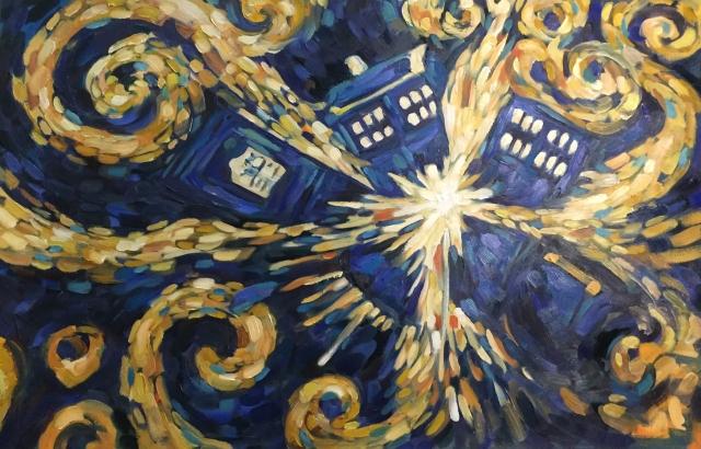 Doctor Who- Van Gogh's Exploding Tardis