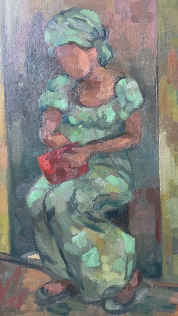 Portrait 8 : Bamako Mali peinture à l'huile