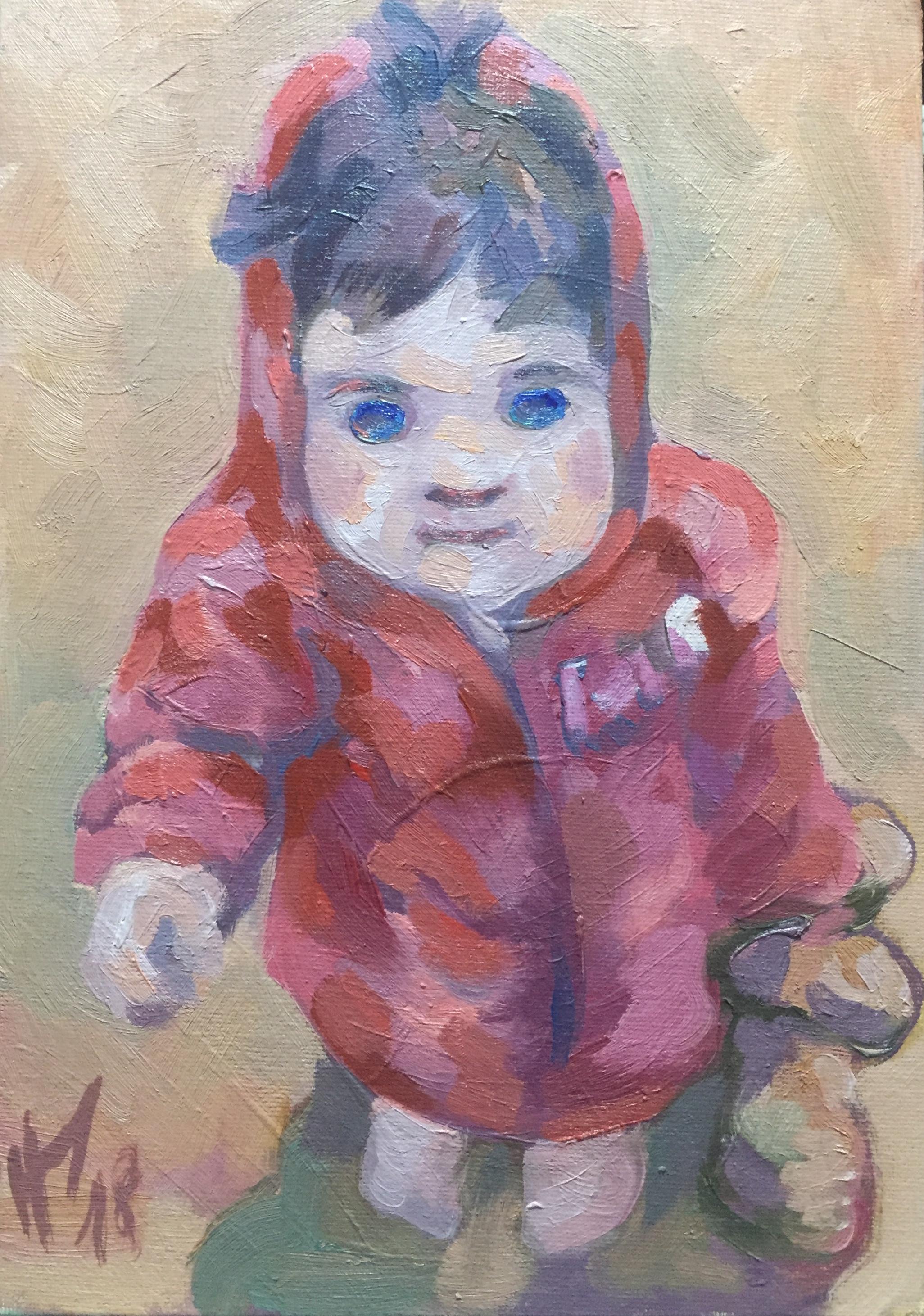 Suzy chaperon rouge peinture à l'huile