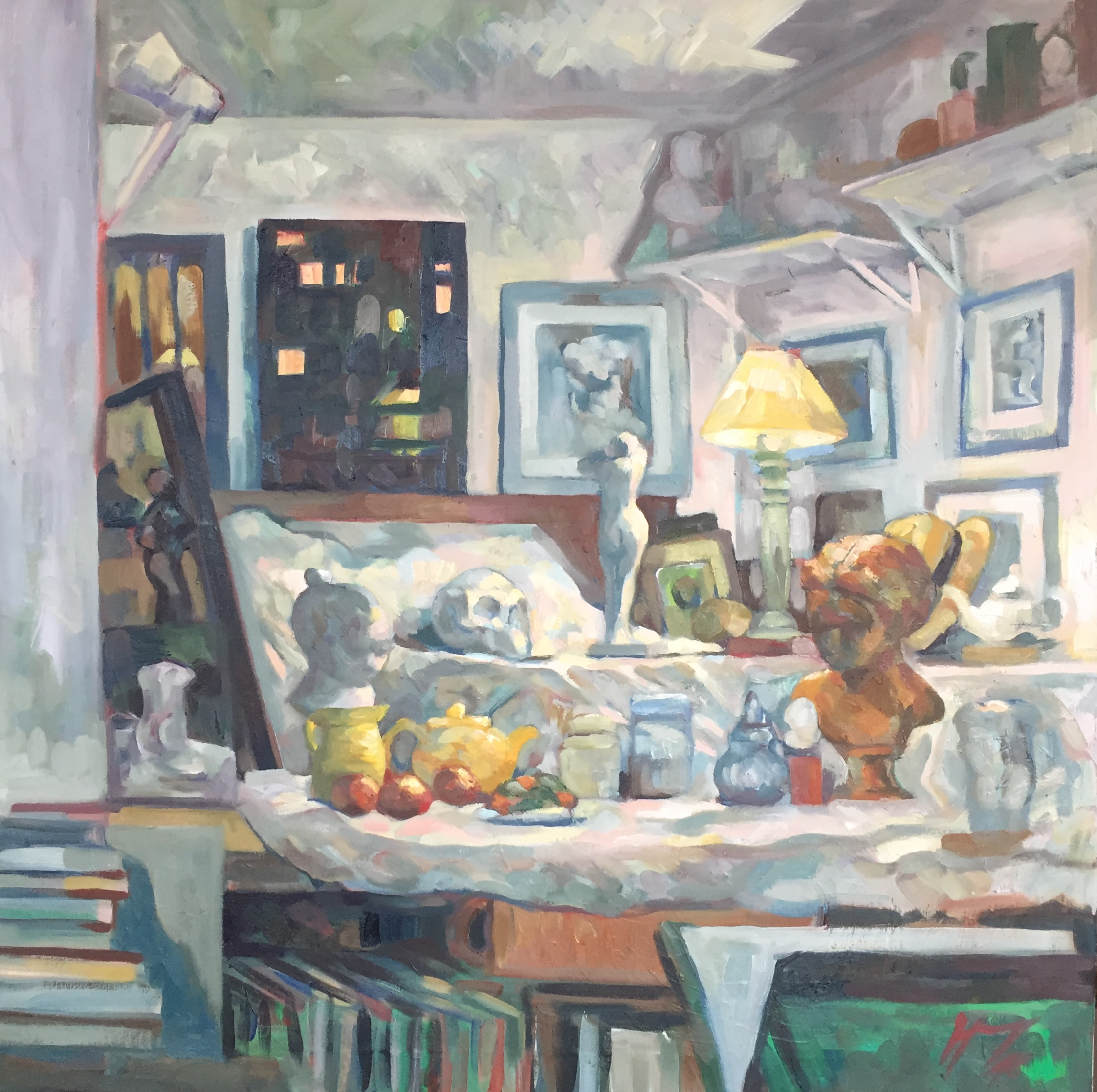 Interieurs tome 2 ou l'amour et le crâne peinture à l'huile