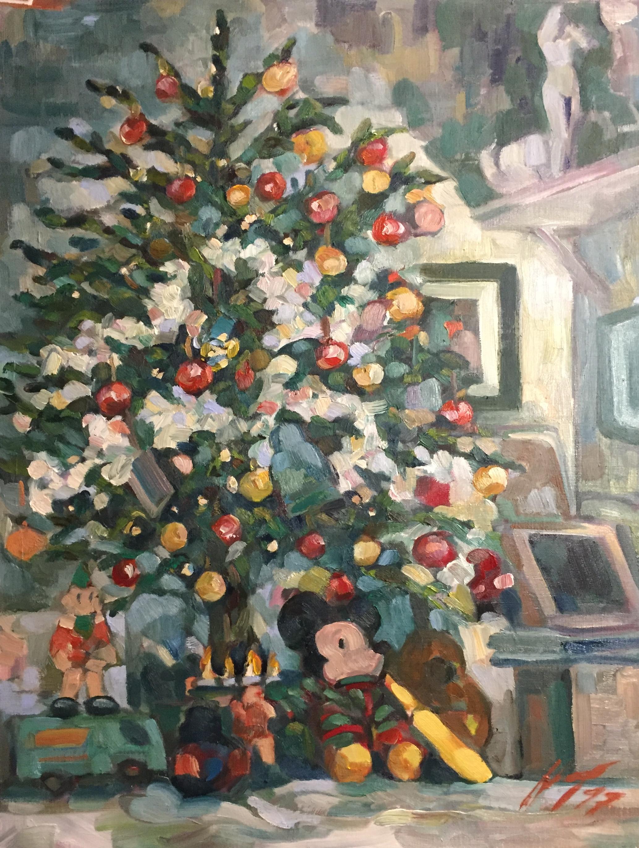 Joyeux Noël peinture à l'huile