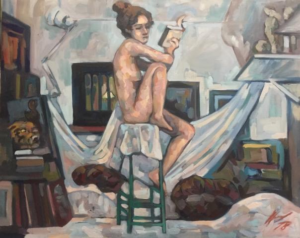 Interieurs 2 tome 2 ou l'amour et le crâne peinture à l'huile