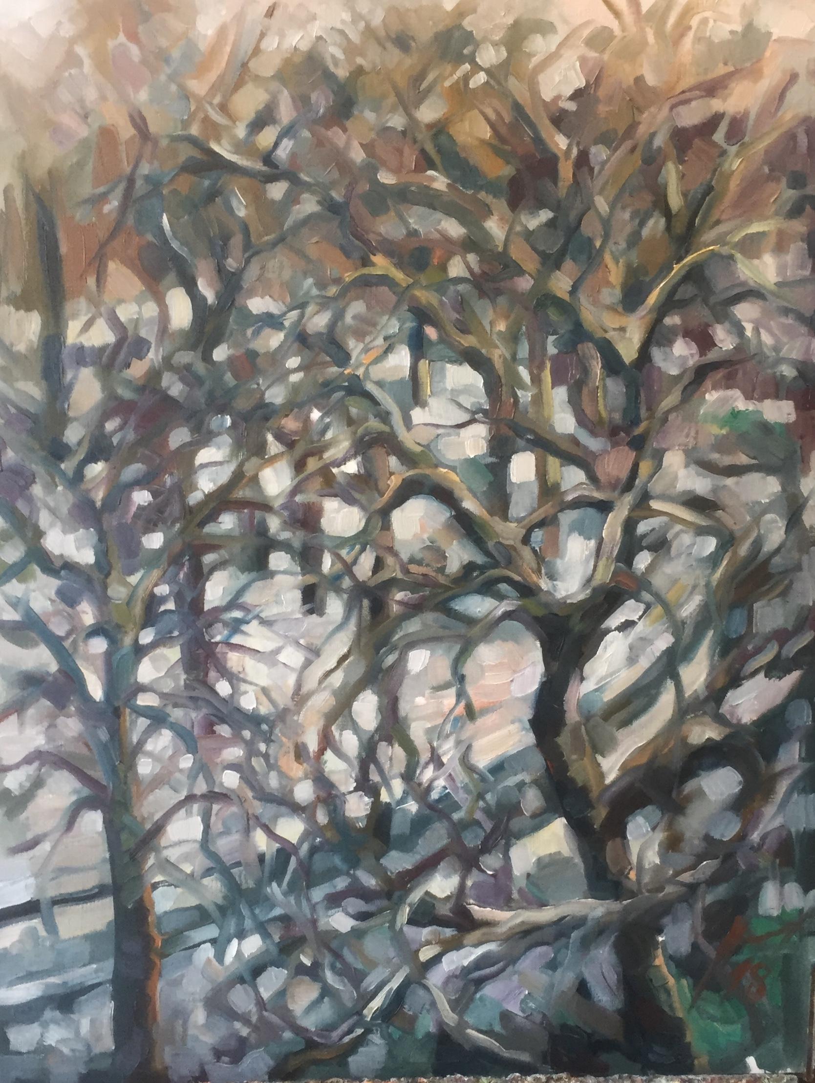 Parc Montsouris hiver 5 : peinture à l'huile
