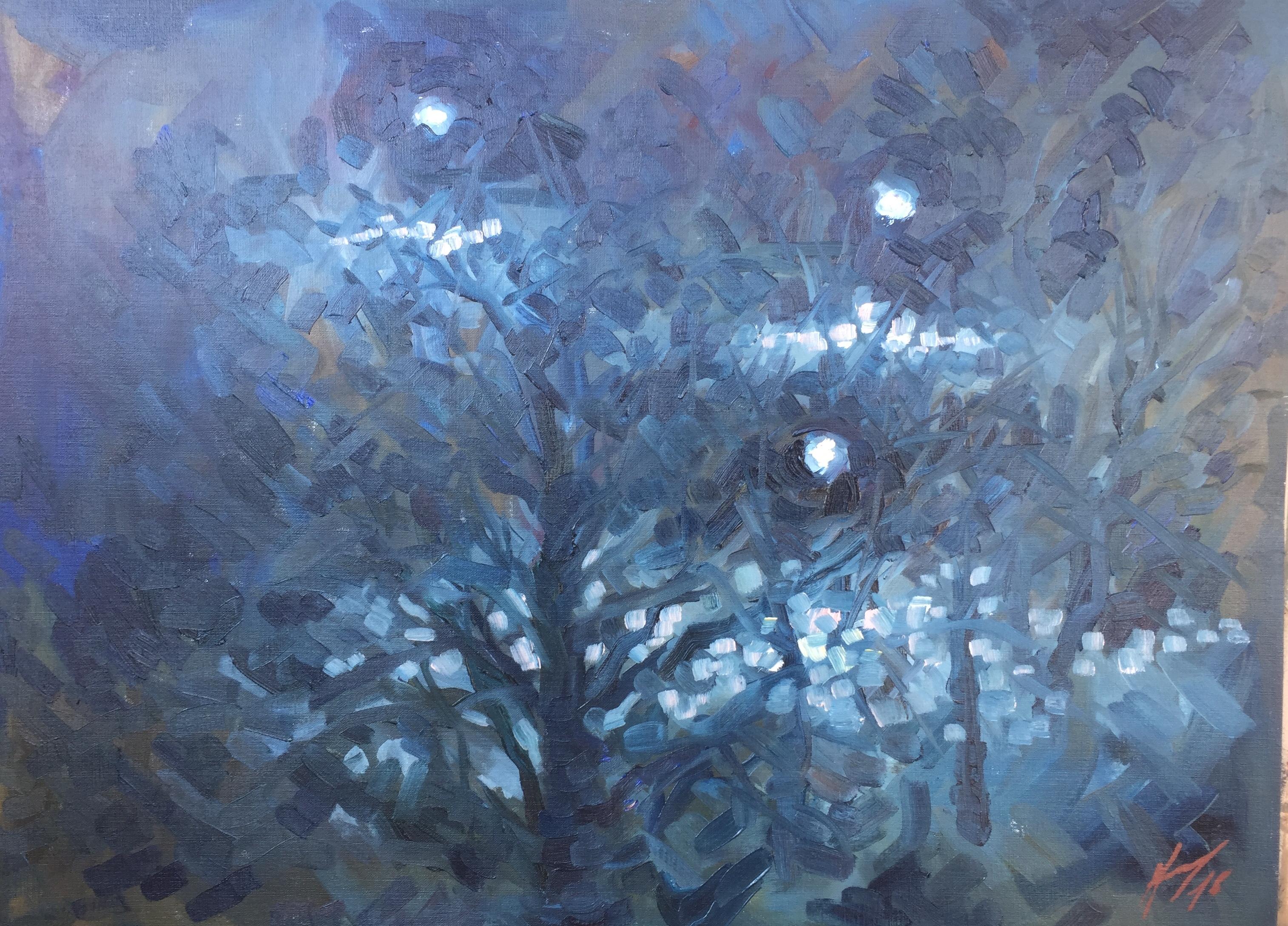 Parc Montsouris hiver 4 : peinture à l'huile
