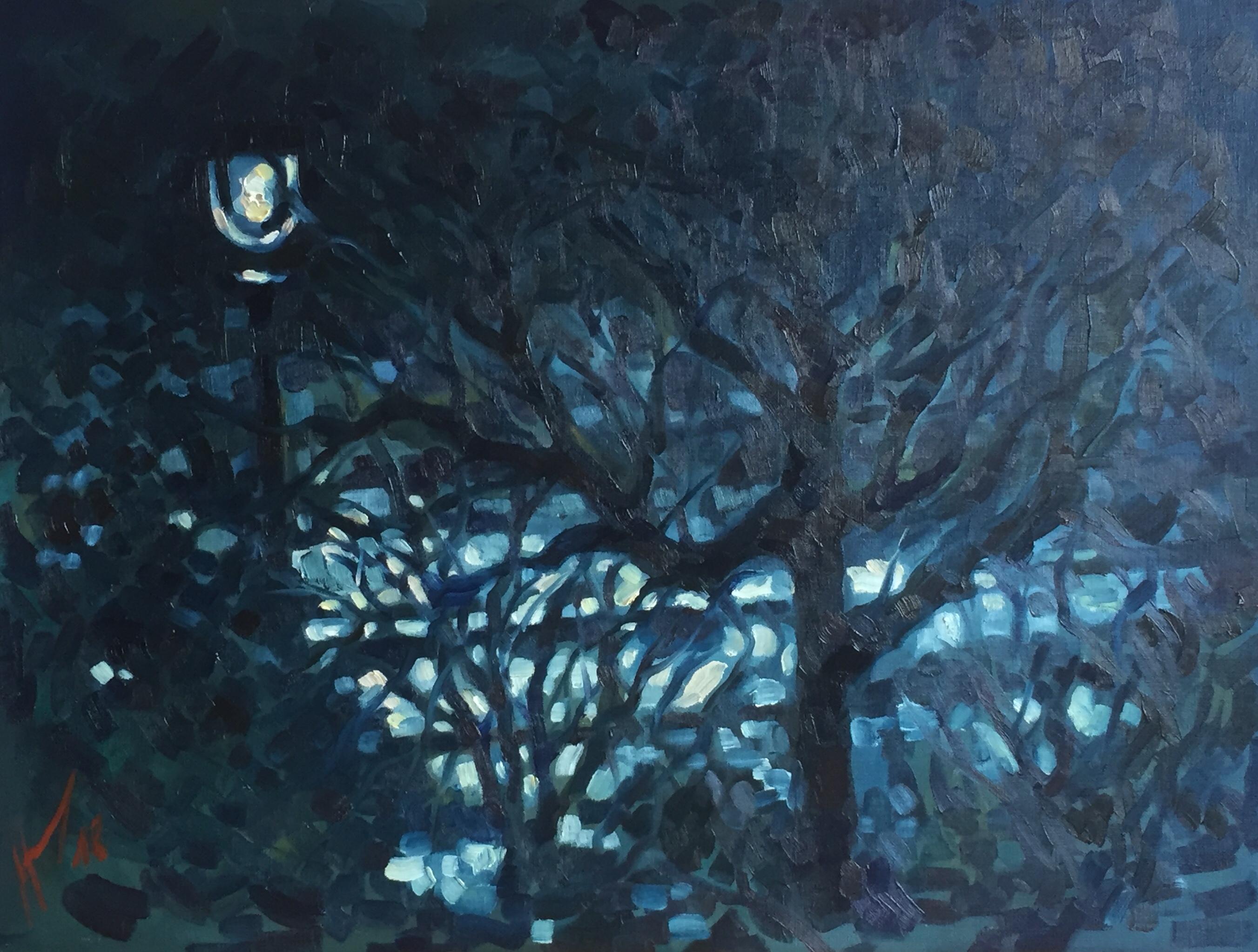 Parc Montsouris hiver 6 : peinture à l'huile
