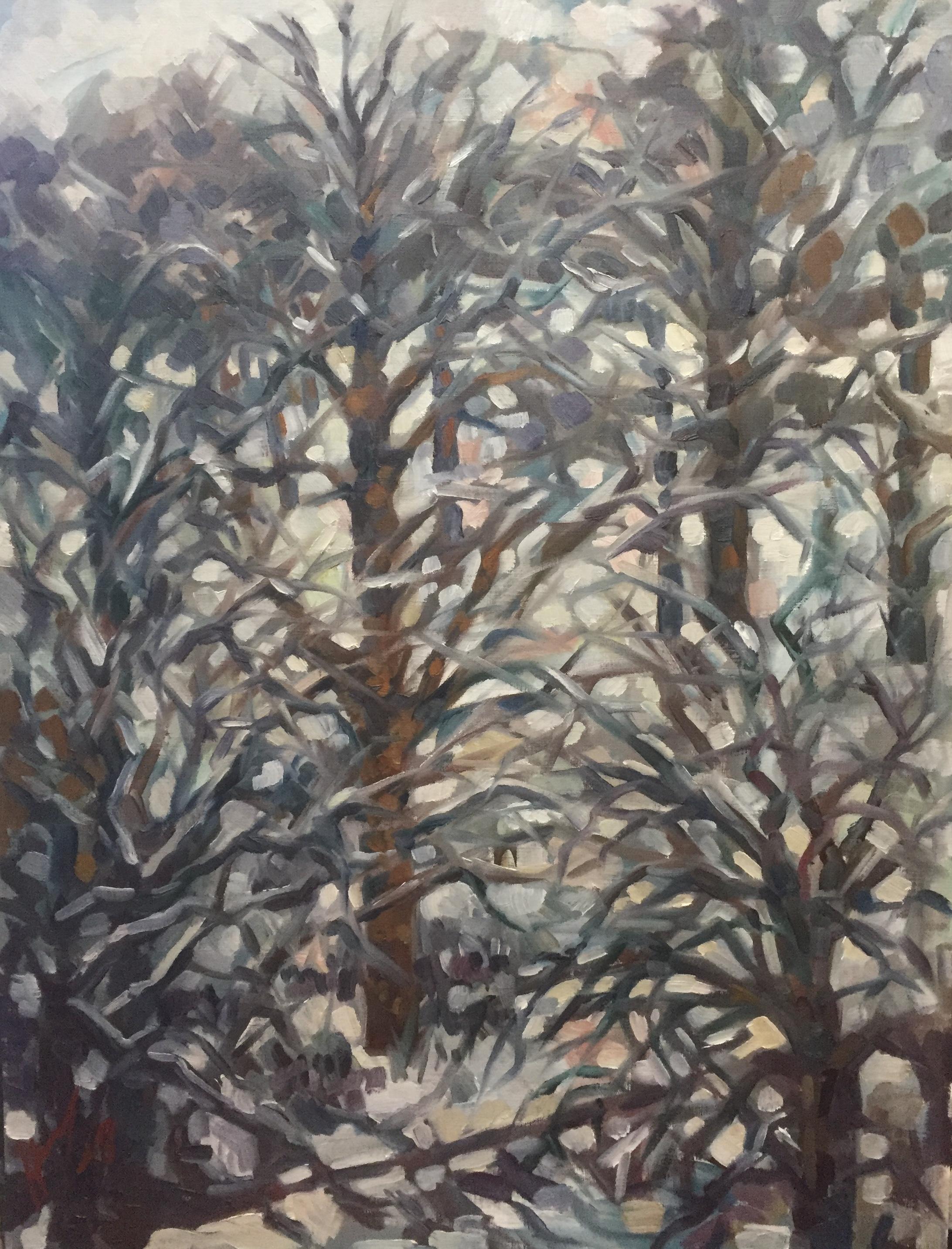 Parc Montsouris hiver 7 : peinture à l'huile