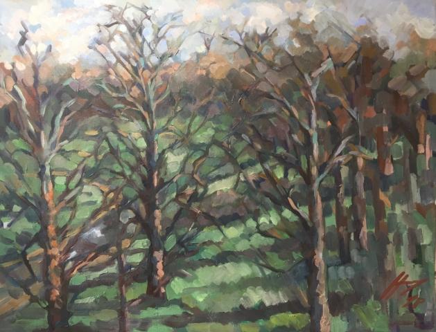 Parc Montsouris hiver 9 : peinture à l'huile