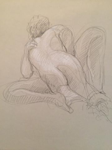 Erosticratie 3 pierre noire et crayon blanc