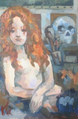 Interieurs 9 tome 2 ou l'amour et le crâne peinture à l'huile