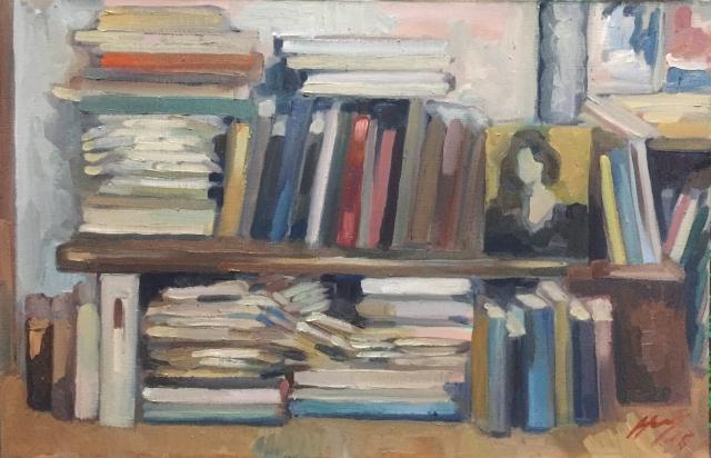 Interieurs 12 tome 2 ou l'amour et le crâne peinture à l'huile