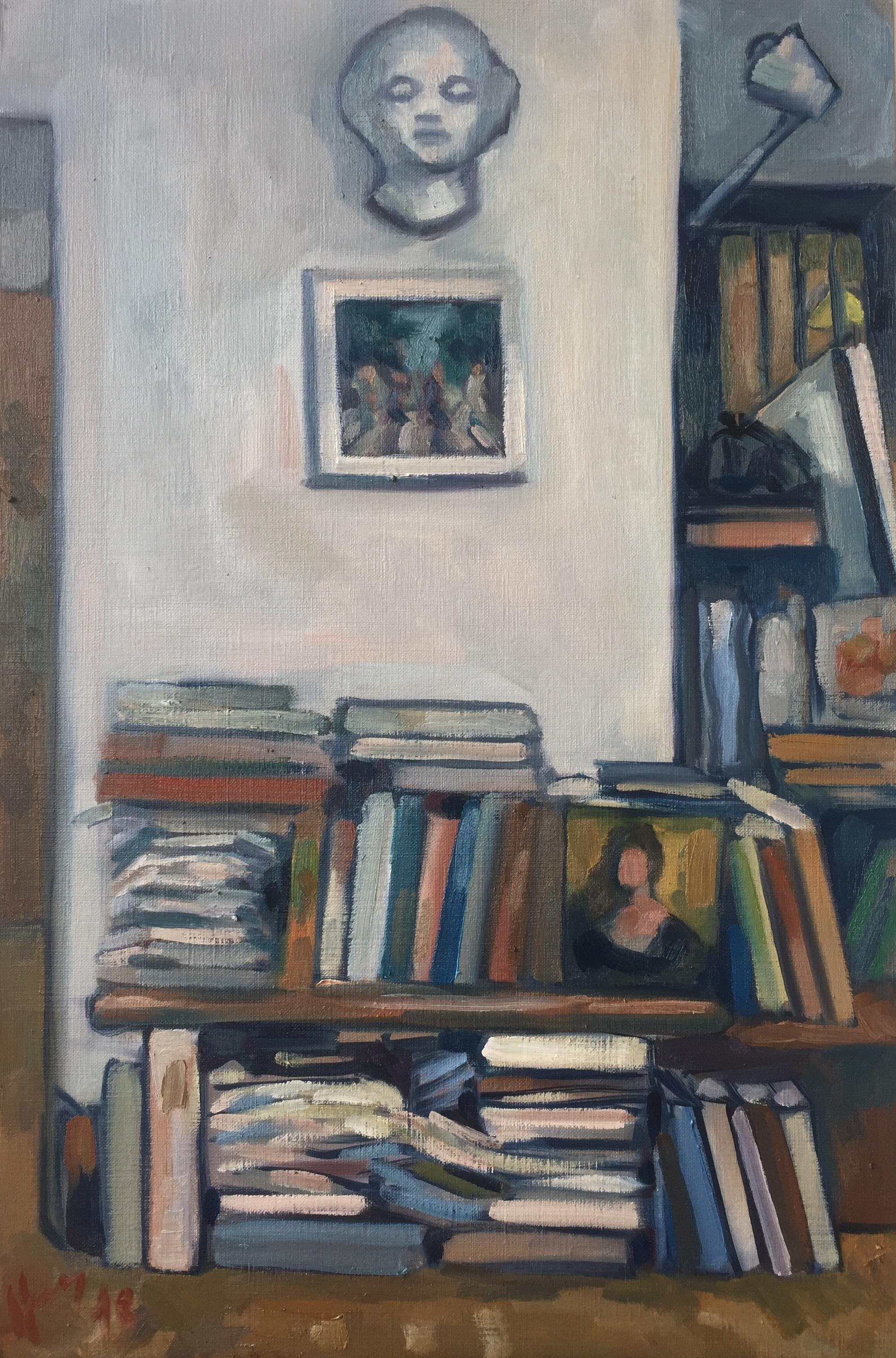 Interieurs 13 tome 2 ou l'amour et le crâne peinture à l'huile