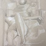 Modèle vivant 121 : pierre noire et crayon blanc