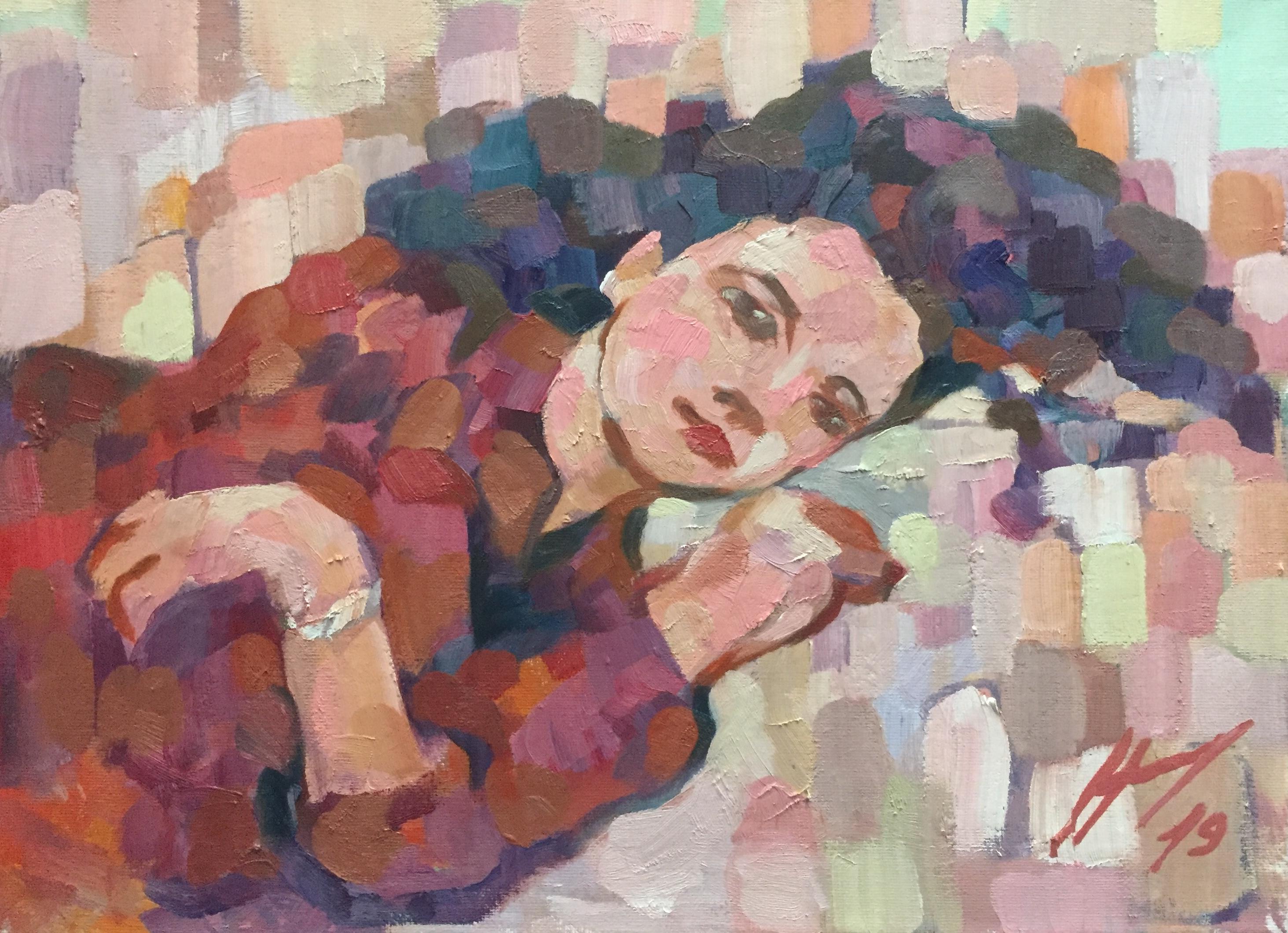 Le Modele Peinture A L Huile Harry Boudchicha