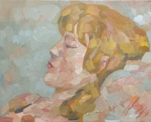L'aube spirituelle, peinture à l'huile