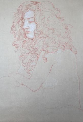 Modèle vivant 20 : sanguine et crayon blanc